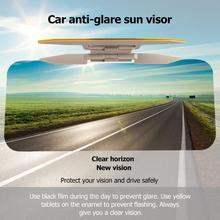 2в1 автомобиль солнцезащитный козырек HD защита от солнечного света ослепительный Очки День ночного видения вождения зеркало УФ складной флип вниз прозрачный вид вождения зеркало