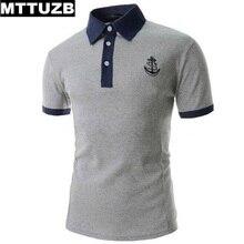 New MTTUZB men fashion Anchor embroidery polo shirts men's casual short sleeve tops male sportswear man tees 2 colors M-XXL