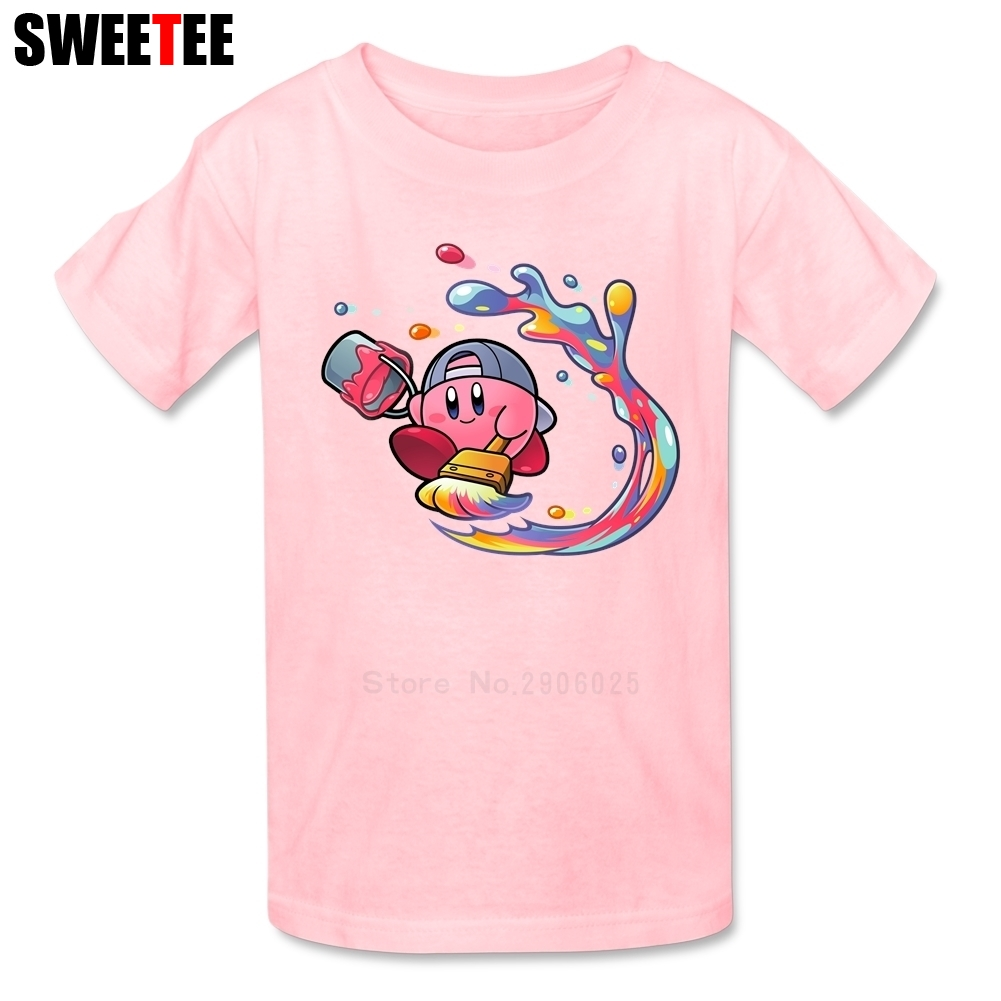 children T Shirt Kirby Cotton Short Sleeve Round Neck Tshirt Tee-shirt boys girls 2018 New Arrival T-shirt For baby