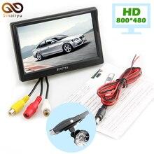 5 дюймов автомобиля Мониторы для заднего вида Камера автопарк резервного обратный Мониторы HD 800*480 TFT-LCD экран 2 крепления/Кронштейны дополнительно
