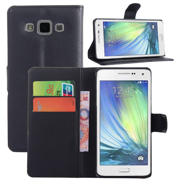 Wallet Flip Leather <font><b>Case</b></font> For <font><b>Samsung</b></font> <font><b>Galaxy</b></font> <font><b>A5</b></font> A500 A5000 A500F <font><b>A500FU</b></font> Leather back Cover <font><b>case</b></font> with Stand Etui Coque funda> image