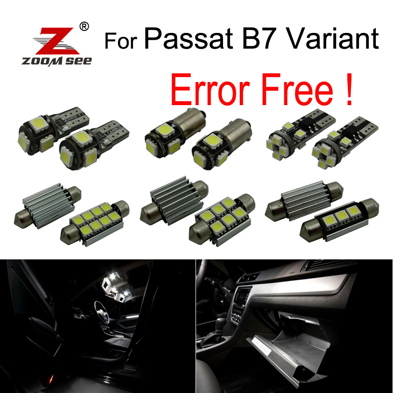 18pcs LED Interior dome map reading Lights bulb Kit for Volkswagen Passat B7 Variant version Estate ( 365 ) ONLY (2011-2014)