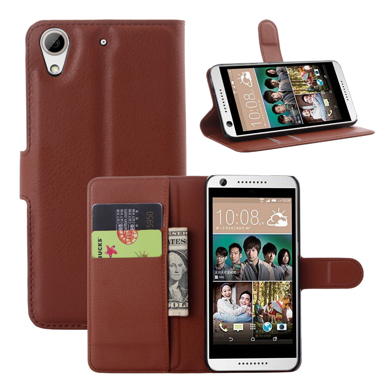 check out 5d9b9 7a92d US $1.49 25% OFF|Classical Pure Color Litchi Type Flip PU Leather Cases  Covers For HTC Desire 626 with Visa Card Slot Stand Function 9 Colours-in  Flip ...