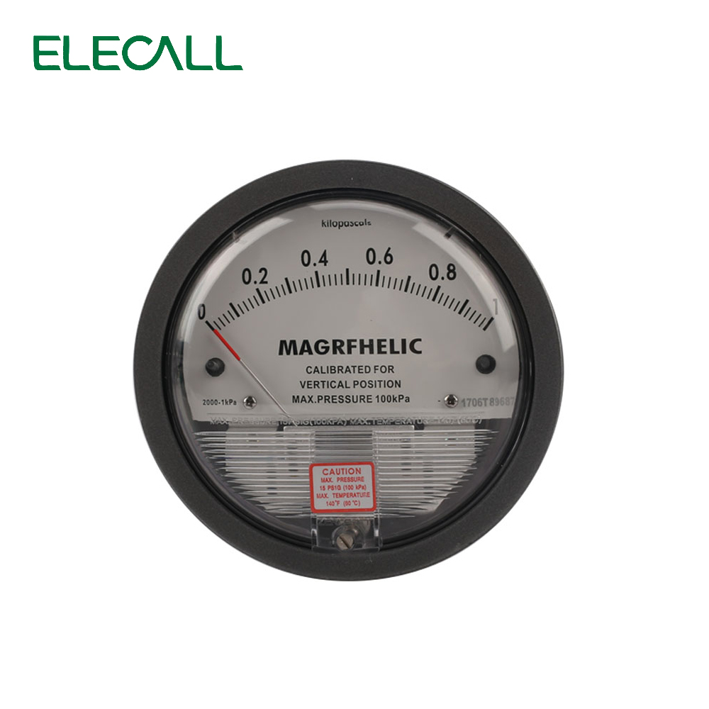 ELECALL Micro Differential Pressure Gauge TE2000 0-1KPA High Precision 1/8 NPT Air Pressure Meter Barometer Best Sale te2000 500pa 500pa micro differential pressure gauge high