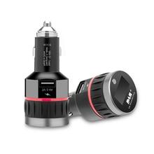 Receptor Digital DAB para coche, interfaz de encendedor de cigarrillos, receptor DAB para coche, pantalla OLED, lanzador FM, cargador de coche, Radio Digital