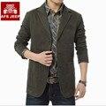 Más el tamaño 4 XLBrand AFS JEEP Hombres de la chaqueta 2016 Nuevo Otoño winte Primavera chaquetas de la capa del hombre de negocios casual 100% algodón sola pecho