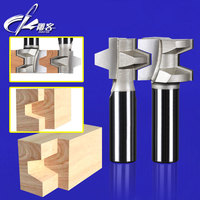 2pcs 1 2 Inch Shank Wood Working Cutter T Handle Rail And Stile Router Bit Mortise