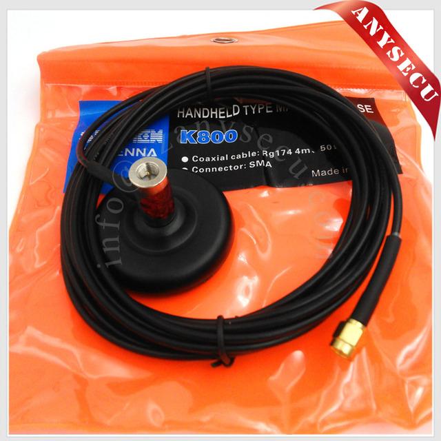 Mini Base magnética SURMEN K-800-SMA-M-M para Handheld rádio pequeno antena de montagem para rádios em dois sentidos