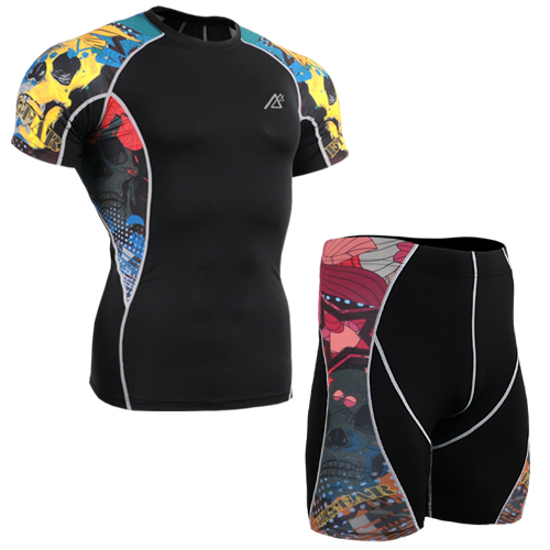 Mountain Bike Cycling suit Sport Suit discount mens suits gym shorts+short sleeve t shirt ropa mujer barata