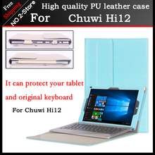 Original Business stand Pu leather case For chuwi hi12 12 inch tablet PC,Fashion keyboard Protective sleeve For Chuwi Hi12
