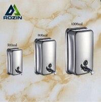 Wall Mounted Single Wall Soap Sanitizer Home Washroom Bathroom Shower Shampoo Dispenser 500 800 1000ML