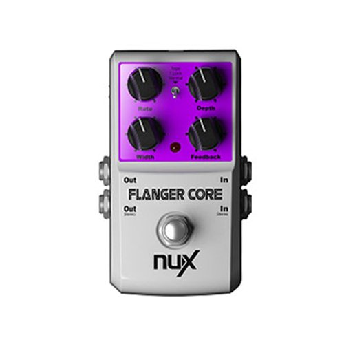ANYSUN@NUX Flanger Core Guitar Effects Pedal Normal & Tape Flanger True Bypass Tone Lock nux metal core distortion effect pedal true bypass guitar effects pedal built in 2 band eq tone lock preset function guitar part