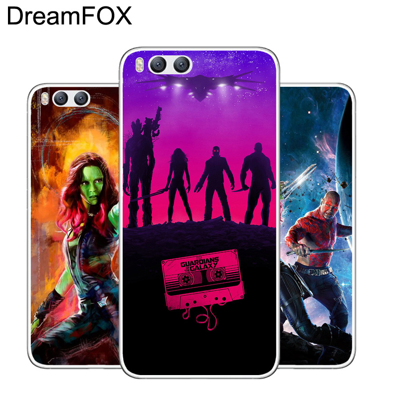 DREAMFOX L532 Guardians Soft TPU Silicone Case Cover For Xiaomi Mi Note 2 3 4 5 6 M5 4C 4S 5C 5S 5X A1 Plus