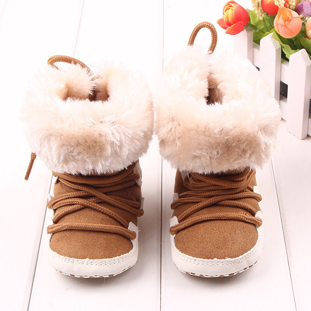 Classic Voberry Baby Girls Boys Winter Soft Sole Crib Warm Flats Boot Toddler Prewalker Shoes