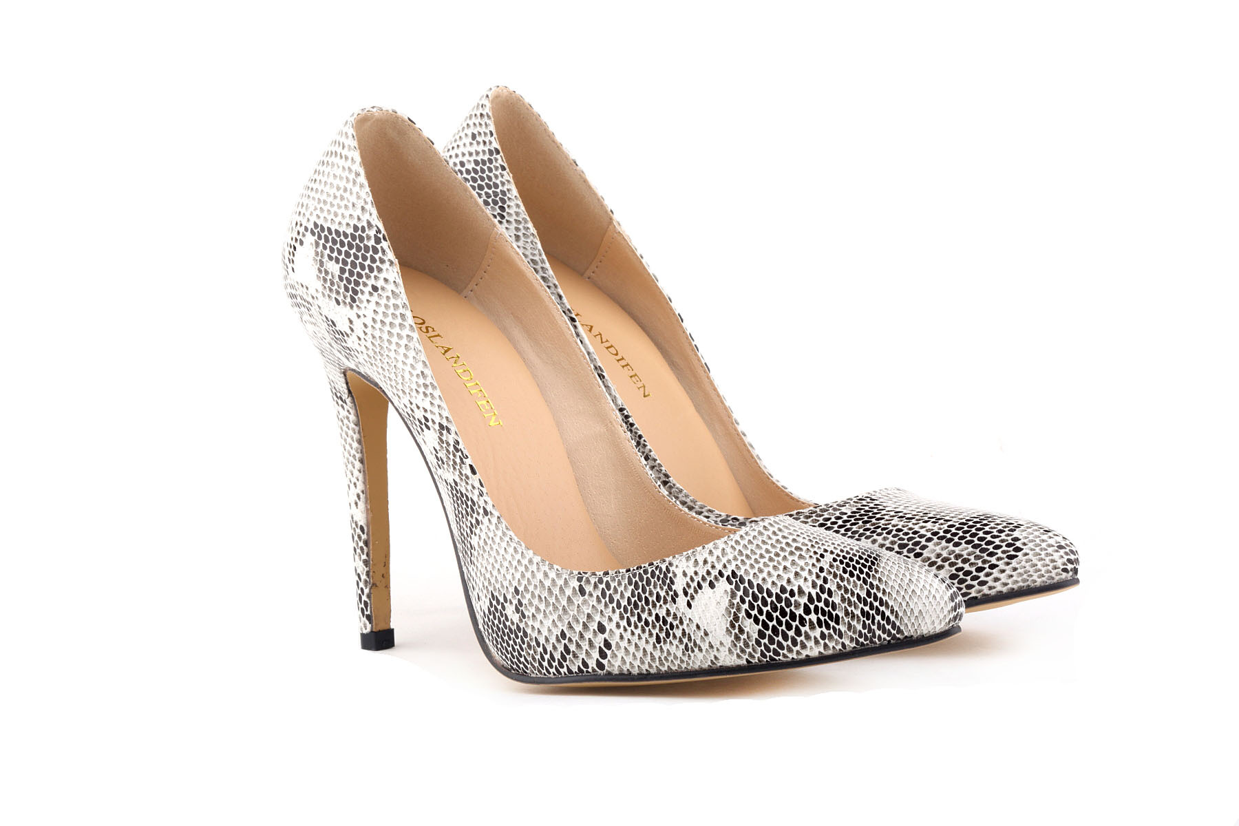 e01a872819 New woman sexy pointed toe thin faux snakeskin high heels zebra classic  pumps wedding party work shallow mouth snake women shoes
