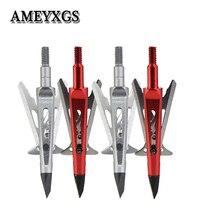 6pcs Archery 2 Blades Arrowhead Hunting Shooting Training Broadhead Compound/Recurve Bow Accessories Arrow Head