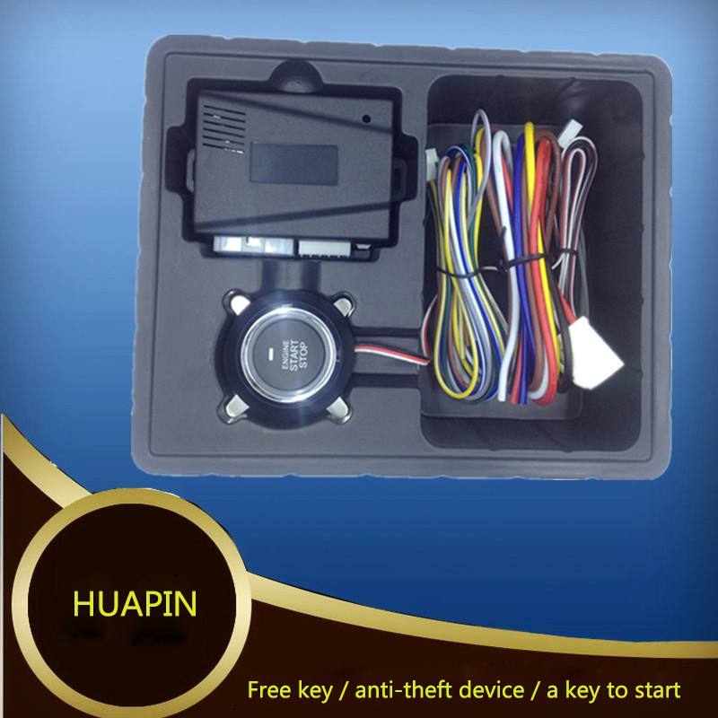 PKE Button Start Stop Car Engine Remote Start Button Keyless Entry Smart Security Sensing Central Lock Car Alarm System Keyless