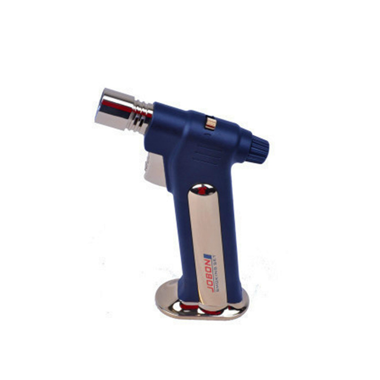 Butane Jet Lighter 1300'C Metal Gas Torch Cigarette Lighters (Large) Powerful Flame Adjustable Smoking Weed Pipe Jobon356 image
