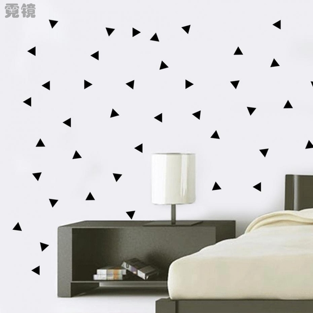 5 8 12 17cm black remove triangle wall sticker vinyl wall art diy