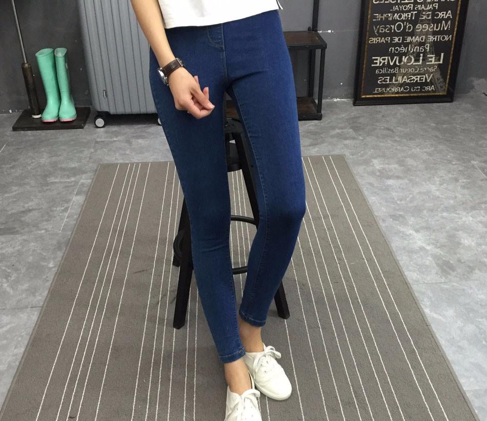 BIVIGAOS Basic Skinny Womens Jeans Ankle Pencil Pants Slim Elastic Denim Pants Jean Leggings Female Cotton Jeggings Jeans Women 32