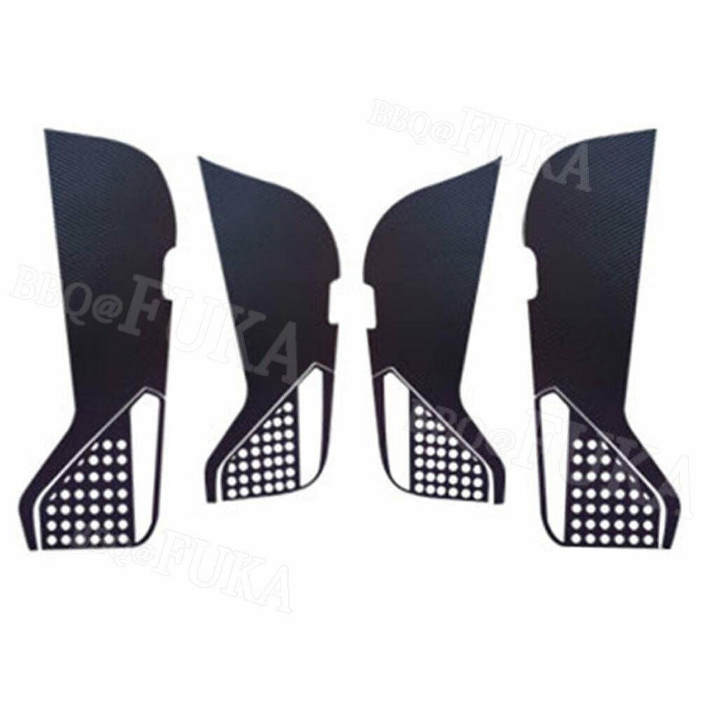 Protective-Film Anti-Kick-Pad Tiguan Volkswagen 4pcs For V-W Car-Door Carbon-Fiber-Style