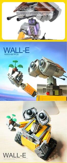 Online Shop 2017 New Lepin 16003 Idea Robot Wall E Building Set Kits