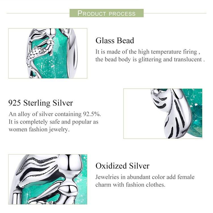 HTB1XEqtRpzqK1RjSZFoq6zfcXXav BAMOER Glass Beads 925 Sterling Silver Mermaid Sea Blue Murao Handmade Charm fit for Necklace Women Jewelry High Quality SCC1154