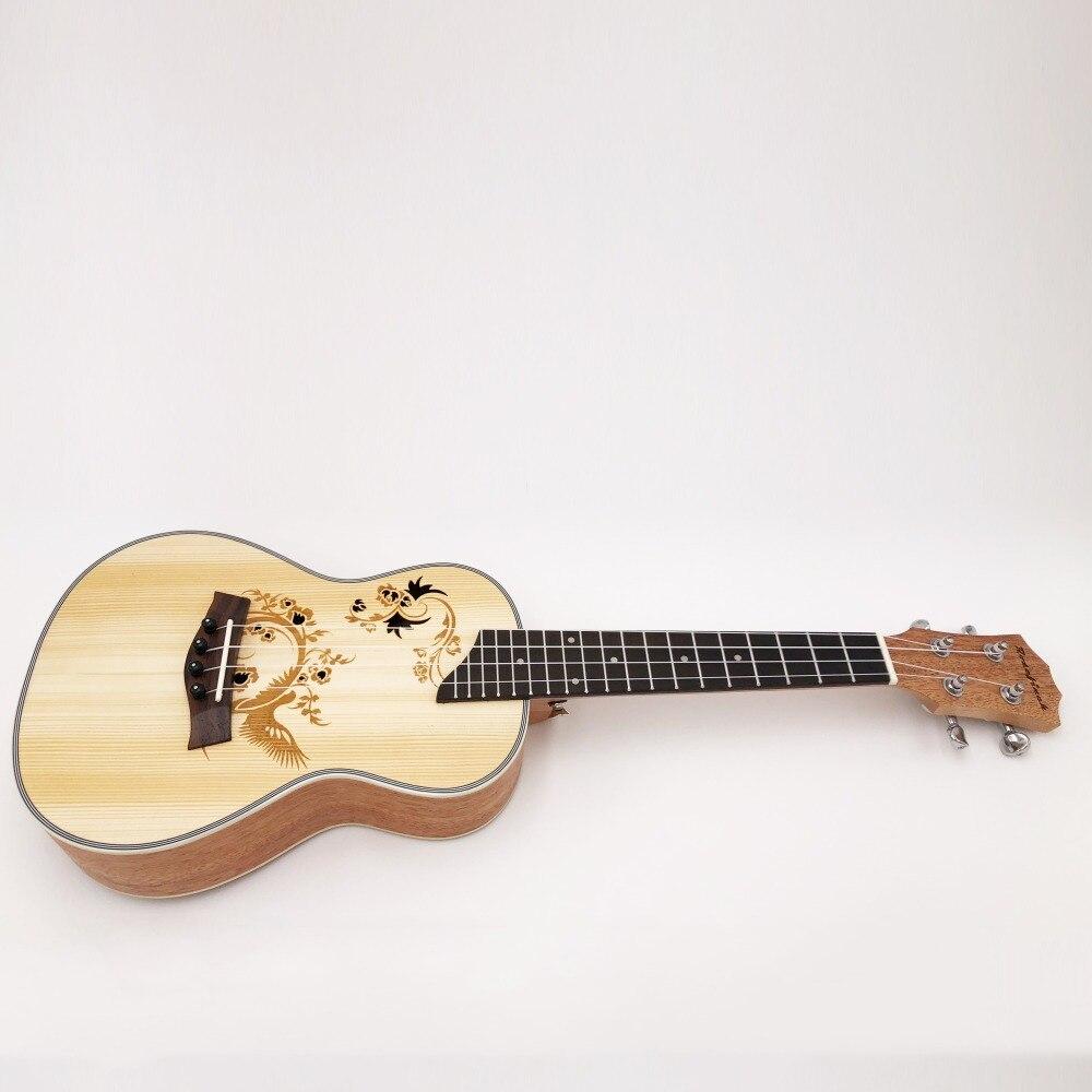 Ukulélé de Concert de 23 pouces 4 cordes en Nylon Mini guitare hawaïenne chaude musicale acoustique Ukelele épicéa bon sculpté électrique EQ UK2319 - 5