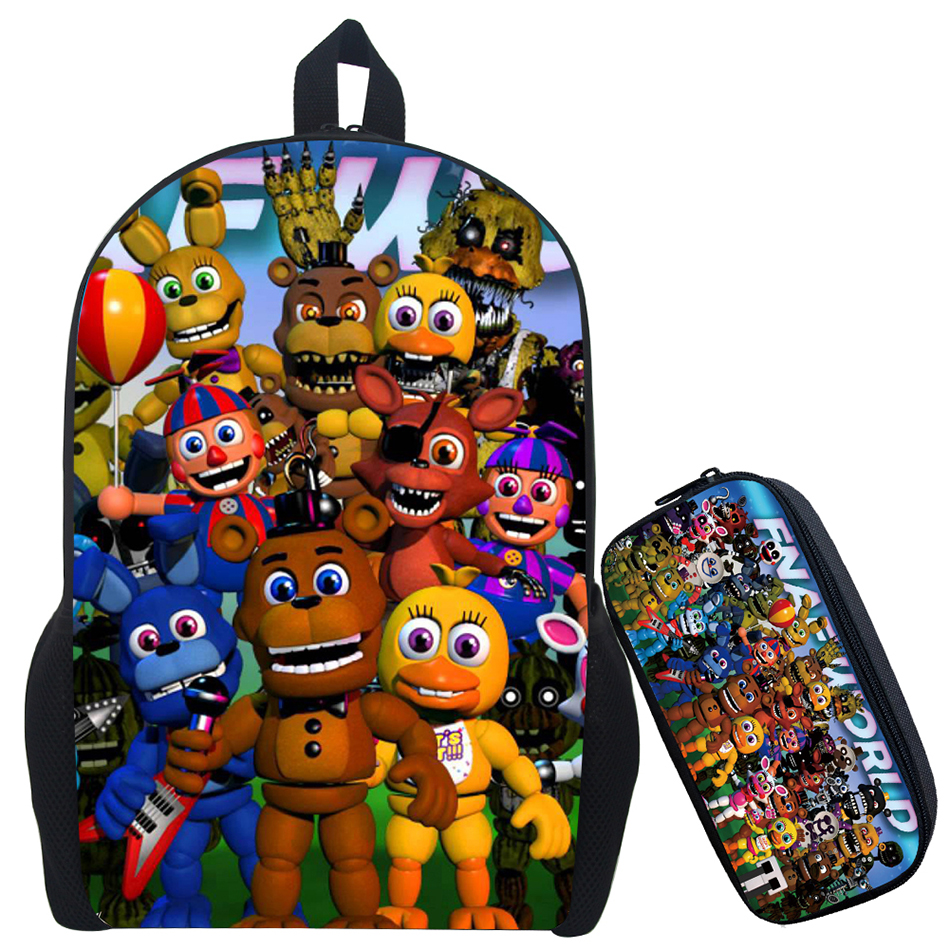 17Inch Kids Five Nights at Freddys Backpack Children Schoolbags For Teenagers Boys&Girls School Book Bag Kids