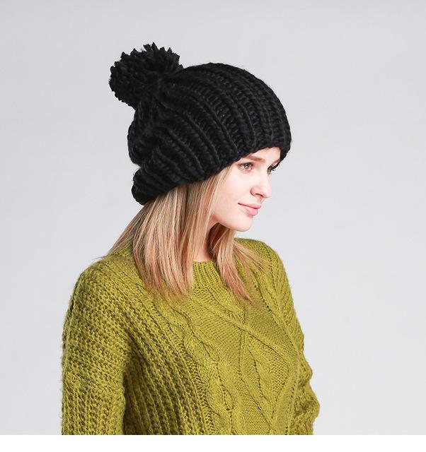 Golas de lã feitas à mão cabelo outono e inverno das mulheres cor sólida flores faixa de cabelo pacote capuzes