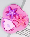 P983 силиконовая форма для ракушек, морских звезд, помадки, форма для шоколада, кружевная форма для украшения торта