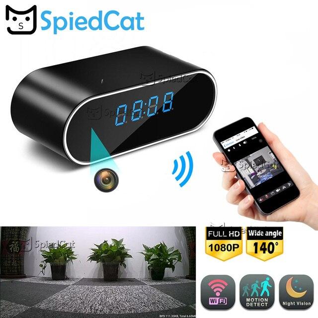 1080 p IR Night Vision Camera Relógio de Mesa de Alarme De Sensor De Movimento Configuração Wifi Mini Câmera do DVR DV Pequena câmera de Segurança IP cam Na Webcam