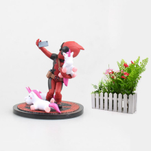 все цены на X Men Super Hero Deadpool Funny Unicorn Selfie Painted Figure Unicornselfie PVC Action Figure Collection Model Kids Toys Gift онлайн