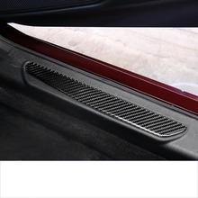 Lsrtw2017 Carbon Fiber Car Sill Threshold Decoration for Alfa Romeo Giulia 2016 2017 2018 2019 2020