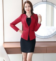 Plus Size 4XL Professional Spring Fall Formal OL Styles Work Wear Suits With Jackets And Dress