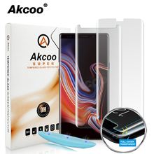 Akcoo 2019 New UV liquid glass for Samsung galaxy note 8 screen protector case friendly film 9 full cover