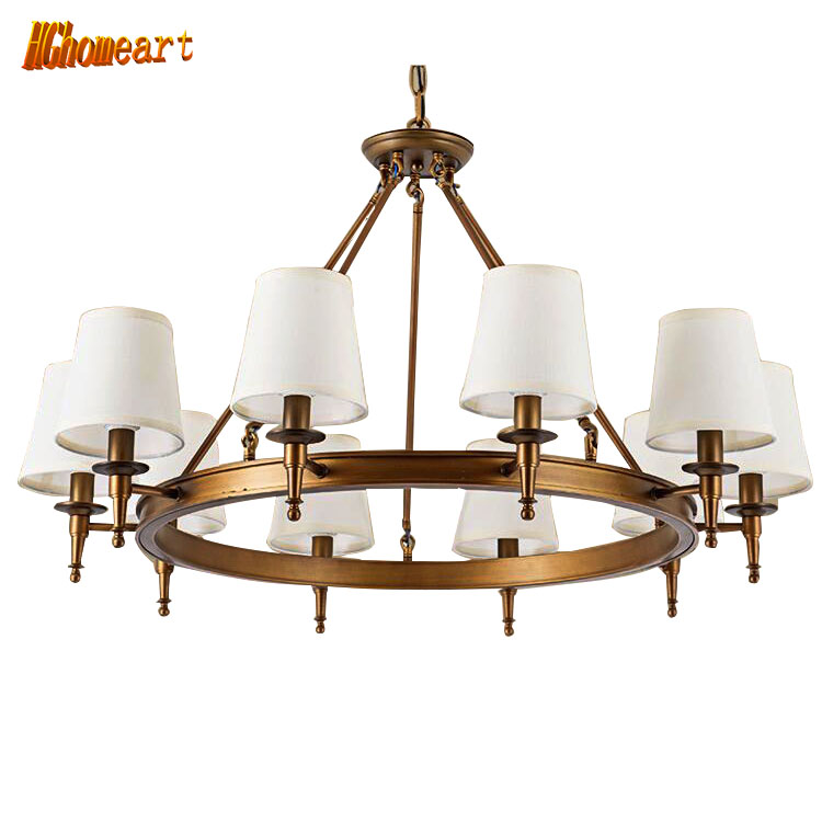 HGhomeart Retro chandelier American Living Room Chandelier Jane European Business Room Bedroom Restaurant Study Retro Chandelier european style retro glass chandelier north village industrial study the living room bedroom living rough bar lamp loft