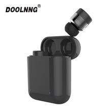 DOOLNNG T 1 防水スポーツの Bluetooth 5.0 イヤホン TWS ワイヤレスミニ不可視タッチコントロールヘッドセット