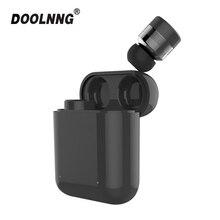 DOOLNNG T 1 Waterdichte Sport Bluetooth 5.0 Oortelefoon TWS Draadloze Mini Onzichtbare Touch Controle Headset Voor