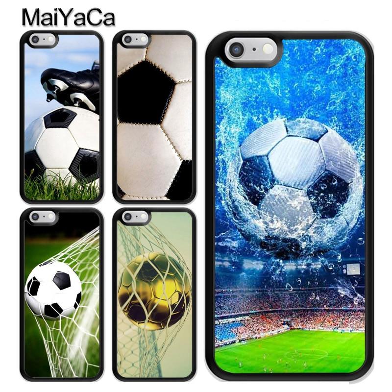 MaiYaCa Soccer Ball Football Futbol Phone Case For iPhone X 8 7 6 6s Plus TPU Cover For iphone 5 5s SE Phone Bag Capa