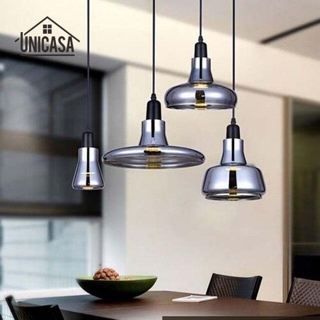 Moderne LED Lampes Suspendues Vintage Îlot De Cuisine Bureau Bar Boutique  Verre Ombre Luminaire Art Déco