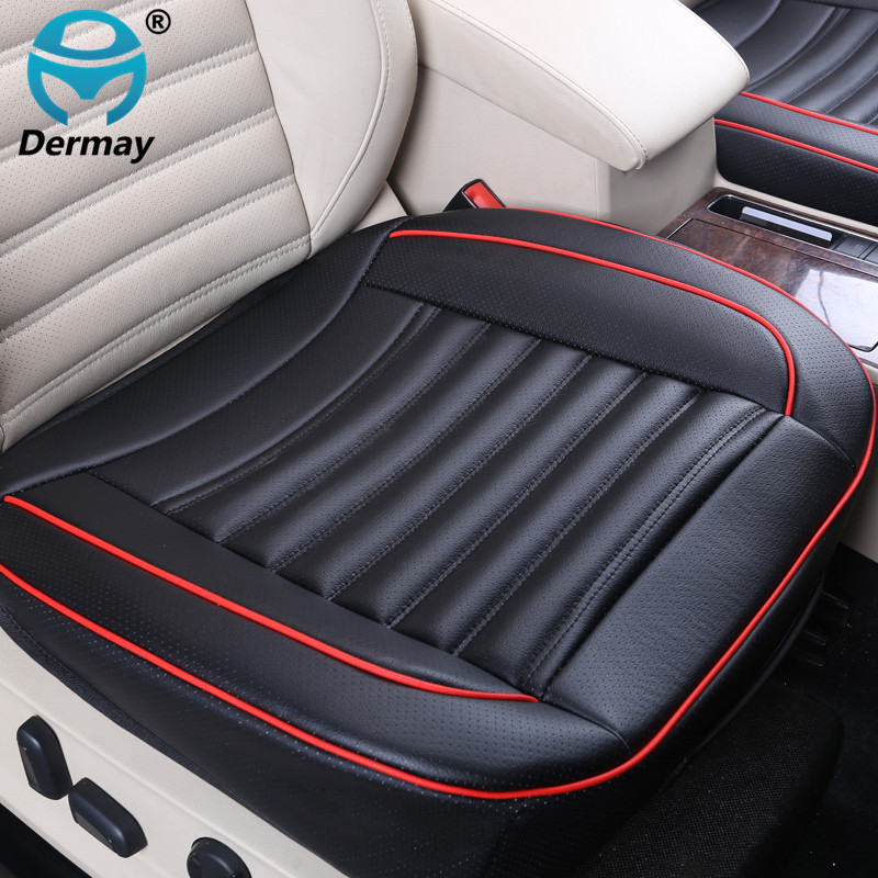Special Provision Leather Car Seat Cover Universal With Buckwheat shell Inside Good For Health 3D Design 52X50CM Free Shipping special educational needs provision