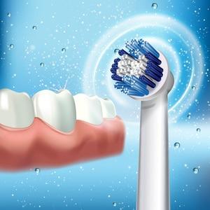 Image 4 - אוראלי B סוניק חשמלי מברשת שיניים DB4010 מסתובב אלקטרוני גרמניה היגיינת פה שיניים שיניים מברשת ראש להסיר סוללה