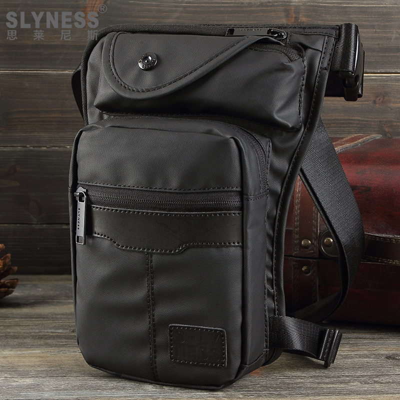 Waist Pack New Casual Fashion Waterproof Nylon Men Waist Bag Trunk Military Fanny Pack Leisure Leg Bag Motorcycle Thigh Bag