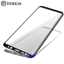 TOMKAS Tempered Glass For Samsung Galaxy S8 S8 Plus 3D Full Cover Protective Film Screen Protector Glass For Galaxy S8 S8+