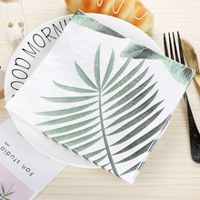 10pcs Lovely Turtle leaf food-grate Printed napkin paper servilletas decoupage decorated Virgin Wood Tissue 33*33cm