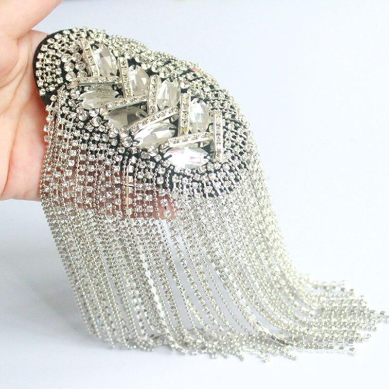 Epaulette/Epaulette épaule/charreteras/bling fait main kpop vêtements accessoires costume décoration broches/broches/brosche