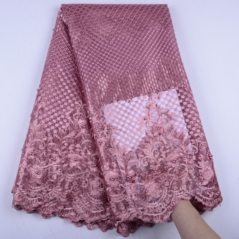 Fashion African Lace Fabric French Lace Fabrics High Quality Nigerian Net Lace Fabric Mesh Tulle Lace