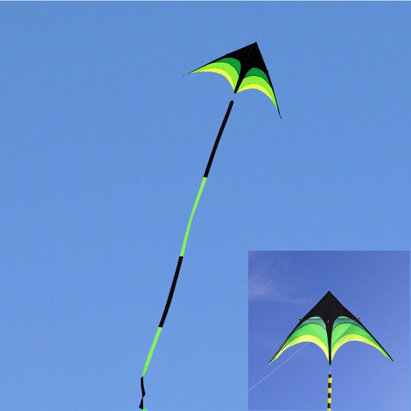 Free Shipping High Quality Prairie Delta Kites With 10m Tails Beautiful With Handle Outdoor Toys For Kids Nylon Ripstop