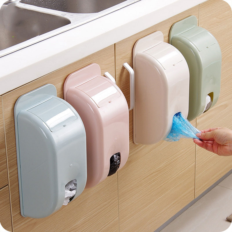 Wall-mounted Garbage Bag Compact Plastic Storage Box Home Debris Sorting Box Plastic Bag Shoe Cover Organizers Kitchen Accessory